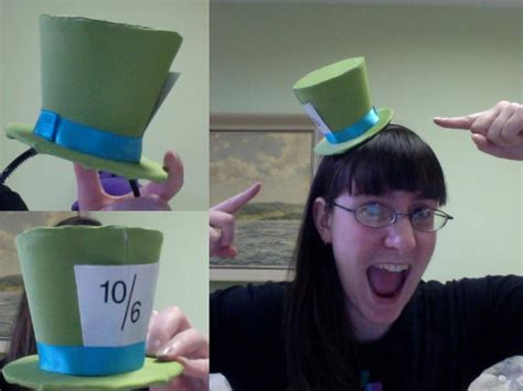 How To Make A Small Hat Out Of Paper - mini mad hatter hat by gilove2dance on deviantart