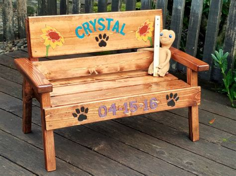 pet memorial benches pet memorial bench personalized dog cat wood furniture pet