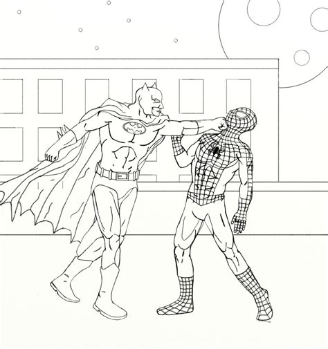 batman vs spider man wip2 worlds on paper