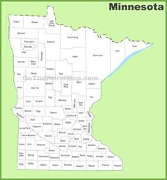 Is In What County Minnesota County Map