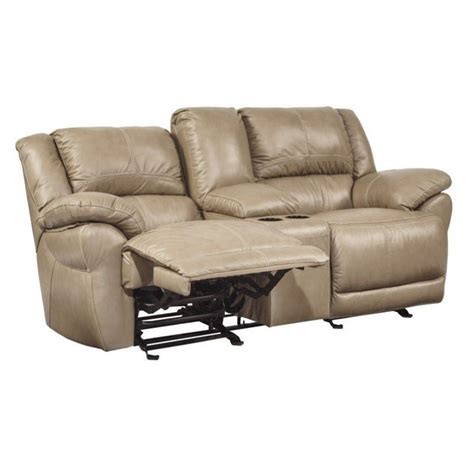 leather glider recliner loveseat signature design by ashley furniture lenoris leather