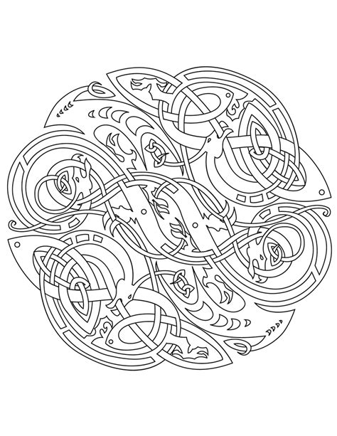 mandala coloring pages vector celtic vector colouring book by ikue on deviantart
