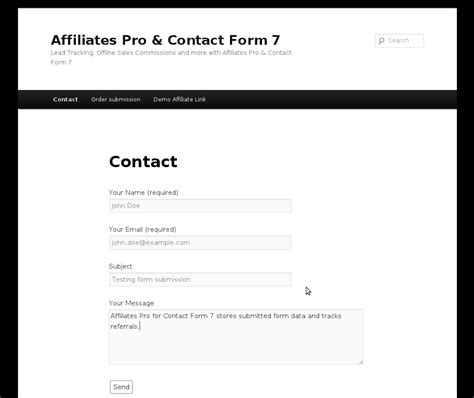 contact form affiliates pro contact form 7 integration itthinx
