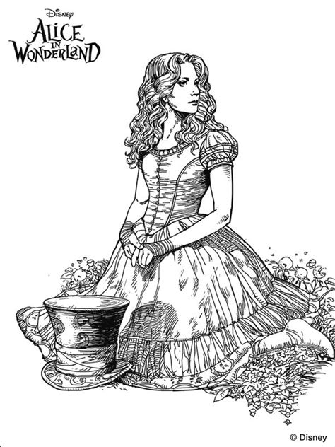 Tim Burton S Alice In Wonderland Coloring Page We Re Tim Burton Coloring Pages