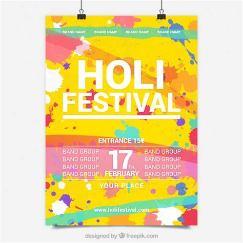 colorful posters holy festival colourful poster vector free