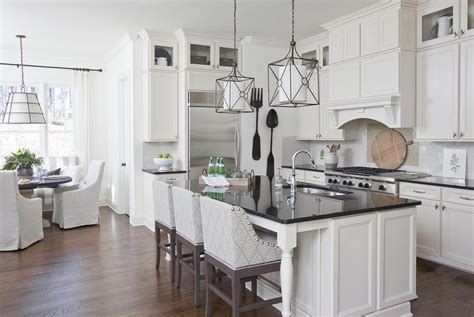 Kitchen Island Counter Stools white kitchen island with black countertop and gray curved