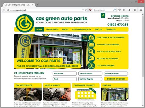 garage website automotive and garage website design