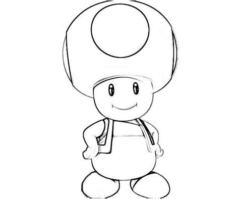 free coloring pages of toad super mario