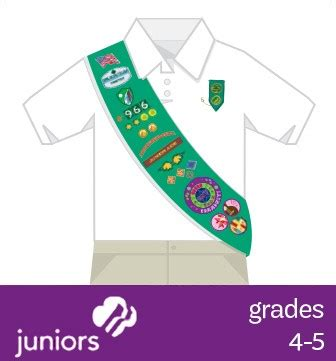 scout junior sash diagram where to place insignia scouts