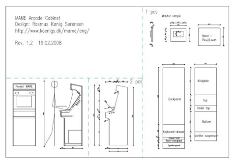 woodwork diy arcade cabinet plans pdf plans