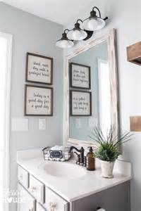 Farmhouse Bathroom Ideas by Modern Farmhouse Bathroom Makeover Reveal