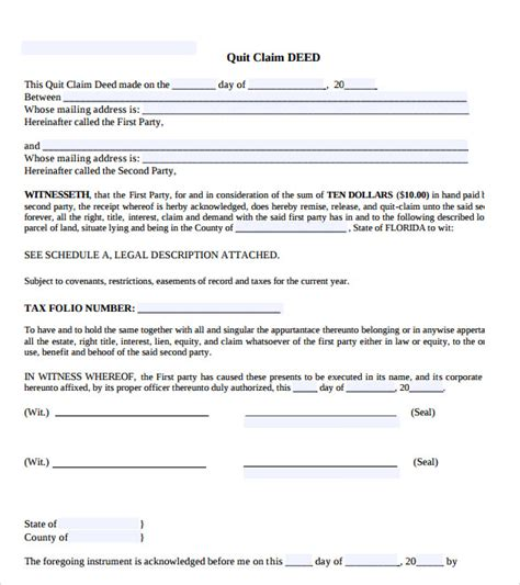 quitclaim deed sle letter for quitclaim deed best free home