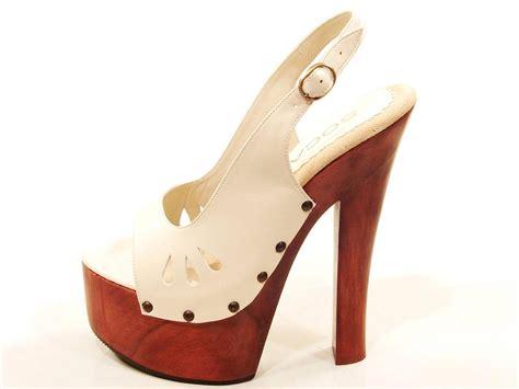 womens high heel clogs womens soca high heel wood platform teardrop