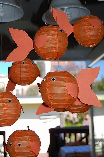 How To Make Paper Lantern Fish - idea for classroom crafts paper