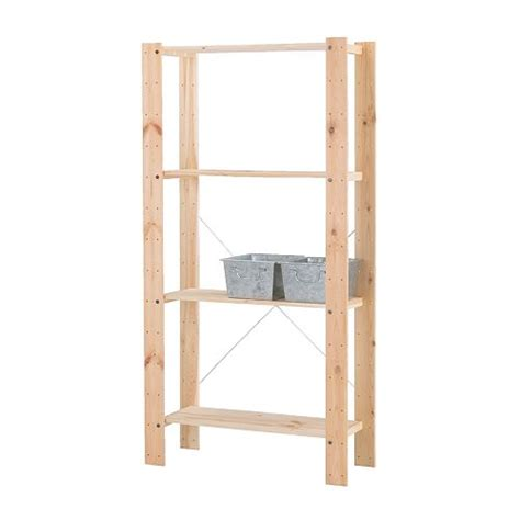 Ikea Wood Shelves Storage Furniture Wall Shelves Garage Storage Ikea