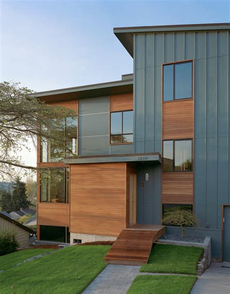 Bor Modern board and batten siding exterior contemporary with fiber cement siding entrance