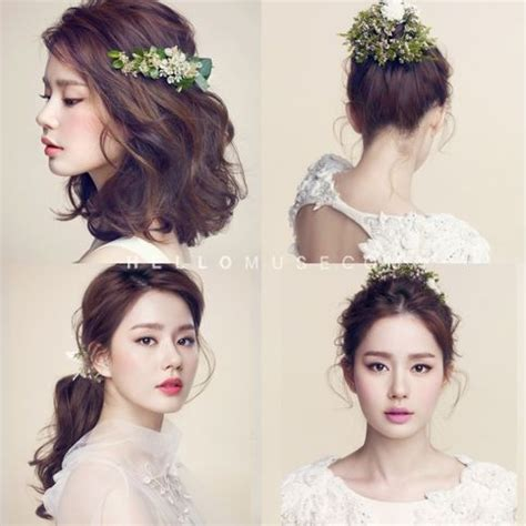 style rambut korea wedding korea pre wedding photo make up and hair korean style