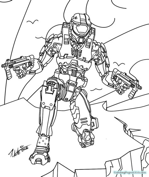 Halo 4 Coloring Pages by Halo 4 Coloring Pages Coloring Pages For