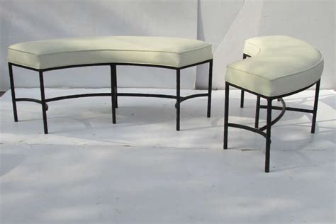 curved bench seating curved iron benches for modular seating at 1stdibs