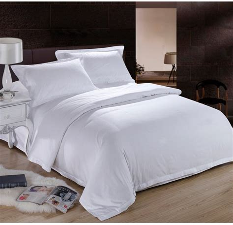 White Bed Linen Sets White Hotel Home Textile 100 Cotton Bedding Set King 4pcs Quilt Duvet Comforter Cover Jpg