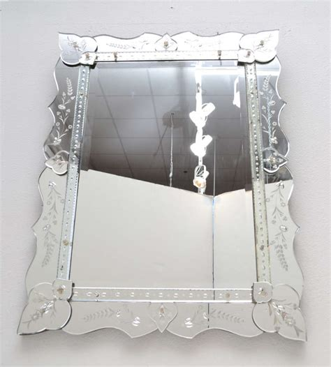 Antique Venetian Glass Mirror Vintage Venetian Glass Mirror At 1stdibs