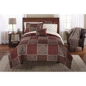 Mainstay Bedding Set Mainstays Bed In A Bag Bedding Comforter Set Tiles Walmart