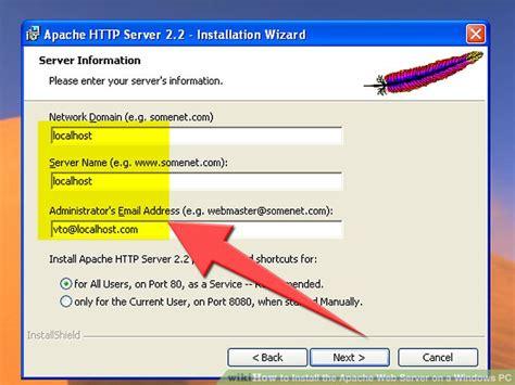 install  apache web server   windows pc