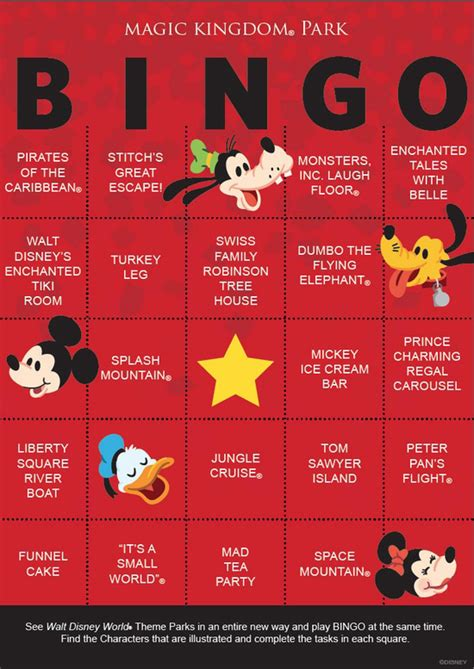 Disney Gift Card For Theme Park - disney parks bingo cards add a fun twist to park visits 171 disney parks blog