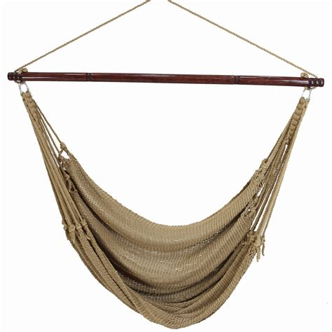 hammock chair swings jumbo caribbean hammock chair tan