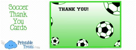 Football Thank You Card Template Free by Printable Soccer Thank You Notes Printable Treats