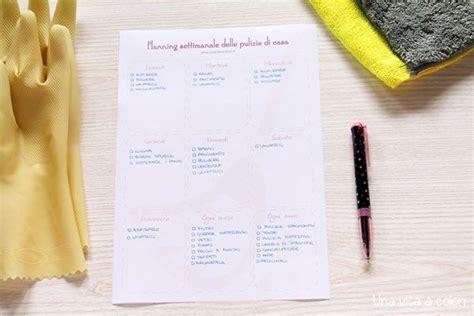 planner casa pulizie di casa planner settimanale da stare