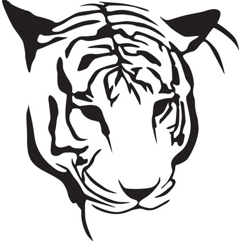 simple outline tiger head tattoo design tattooimages biz