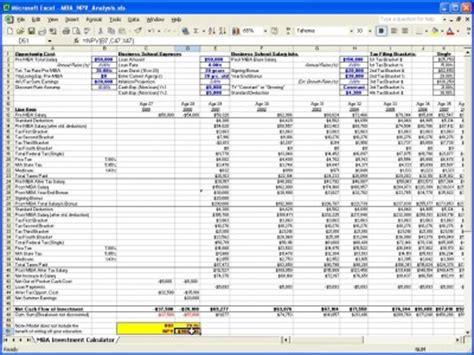 npv excel template mba npv calculator excel templates