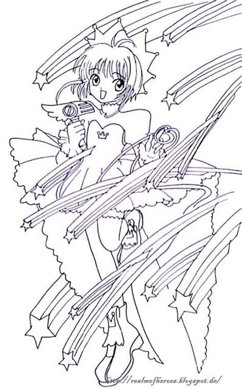 Card Captor Sakura Artbook Coloring Page Coloring Pages Cardcaptor Coloring Pages