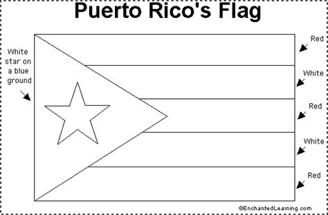 coloring page map of puerto rico puerto rico flag printout enchantedlearning com