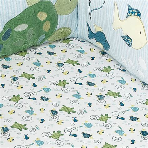 Cocalo Turtle Reef Crib Bedding Cocalo Baby 174 Turtle Reef Fitted Crib Sheet Bed Bath Beyond