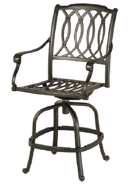 darlee san marcos outdoor counter height swivel bar stool outdoor bar height swivel chairs st augustine by