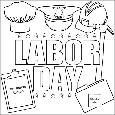 Printable Coloring Pages Labor Day | labor day coloring pages coloring home
