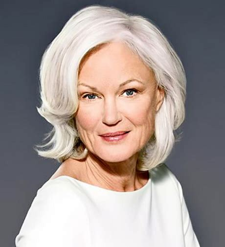 gray hair at 60 years hairstyles for women over 60 years old