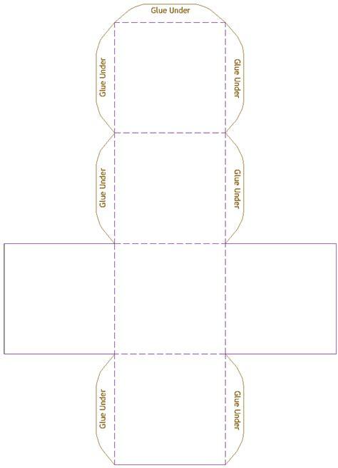 3d box template cube model template