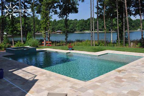 rectangular pool spa with glass tile pool and lanai ideas pinterest rectangular pool