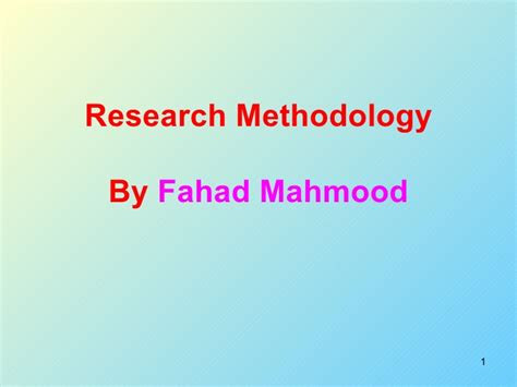 Research Methodology Ppt For Mba definition and types of research