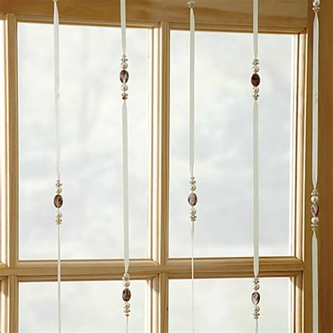 Beaded Window Curtains Buy Croscill 174 Beaded Jewelry 84 Inch Window Curtain Panel From Bed Bath Beyond