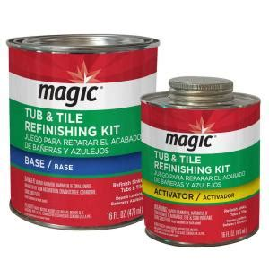 magic 16 oz bath tub and tile refinishing kit in white