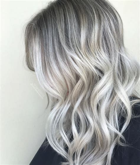 platinum silver blonde balayage platinum ash white blonde balayage ombre balayage