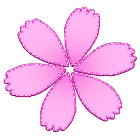 clip fiori free illustration flower pink stripe clip free