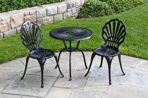 Black Iron Patio Chairs Black Iron Outdoor Furniture Plushemisphere