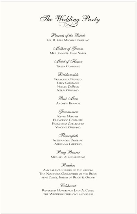 wedding reception program template best photos of wedding reception program template