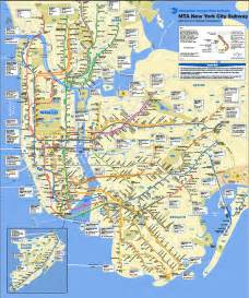 Subway Map Mta by Mta Subway Map Outravelling Maps Guide