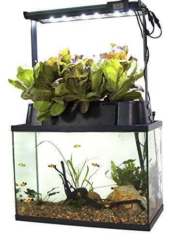 eco cycle aquaponics indoor garden system  led light